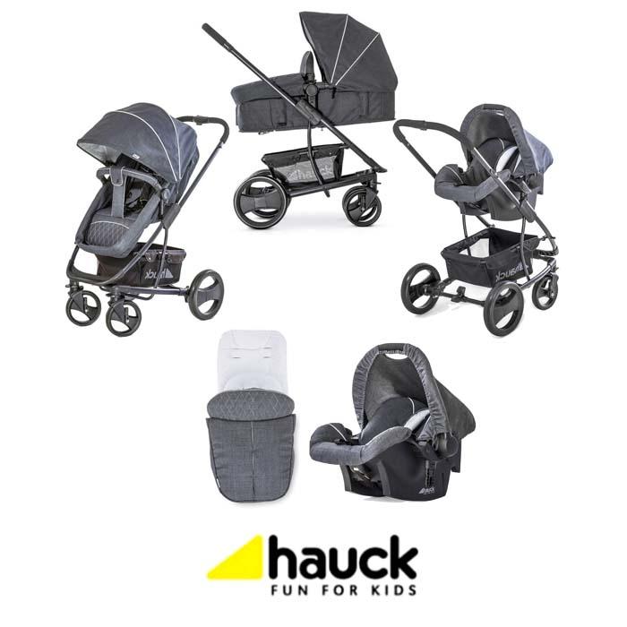 Hauck Pacific 4 Shop n Drive Travel System - Melange Charcoal