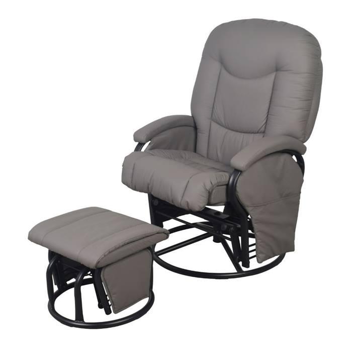 Babylo Cloud Nine Glider Chair & Stool (Slate Grey)