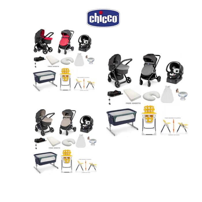 Chicco 8 Piece Offer Bundle  Urban Plus  Next2me Denim  hen house