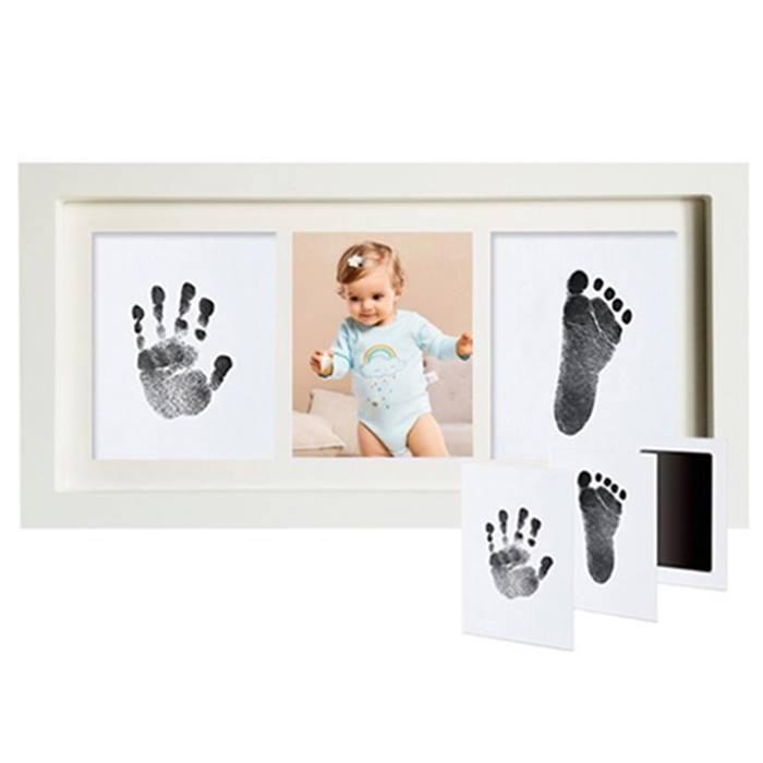 Inkless Baby Footprint & Handprint Ink Pad & Frame Set
