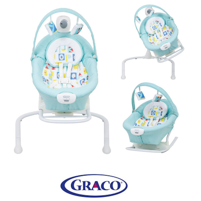 Graco Duet 2 in 1 Sway  Swing - Aqua Block Alphabet