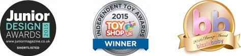 Short listed for Junior Design Awards 2015 - Winner of the Independent Toy Awards 2015 - bizzie baby 2016 Design Award