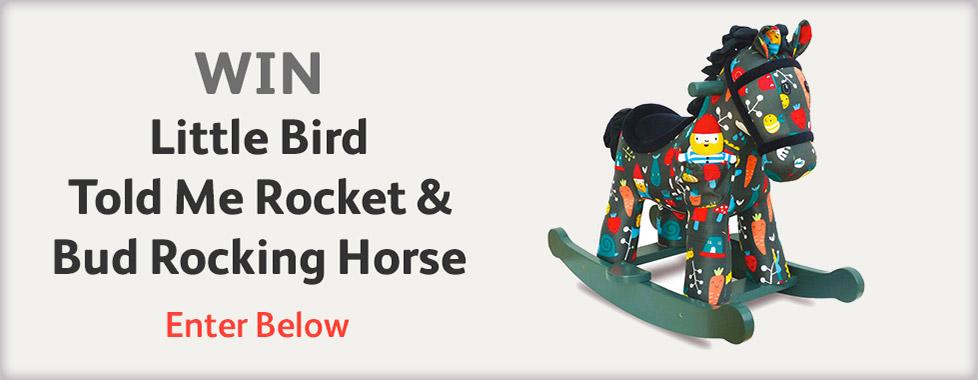 WIN Little Bird Told Me Rocket & Bud Rocking Horse