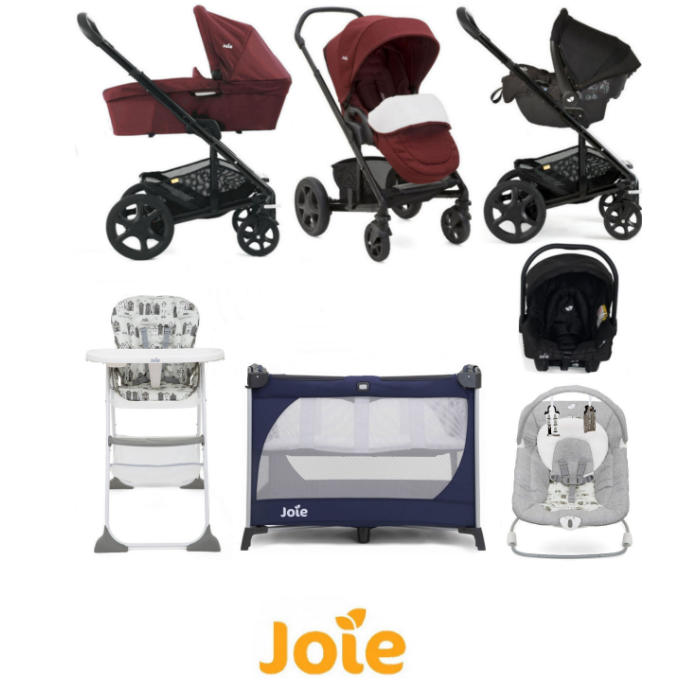 Joie Chrome DLX Everything You Need Gemm Travel System Bundle