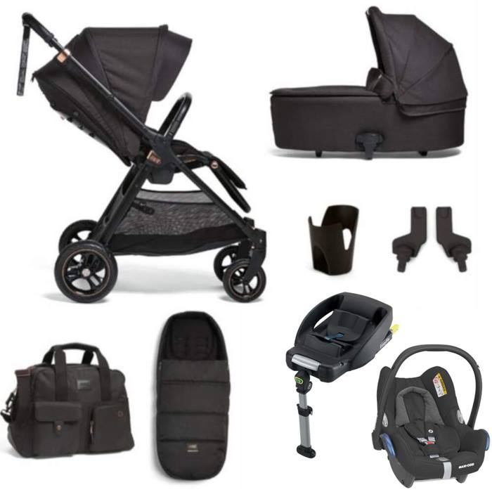 Mamas & Papas Flip XT3 8 Piece Cabriofix & Base Bundle (Black/Copper)