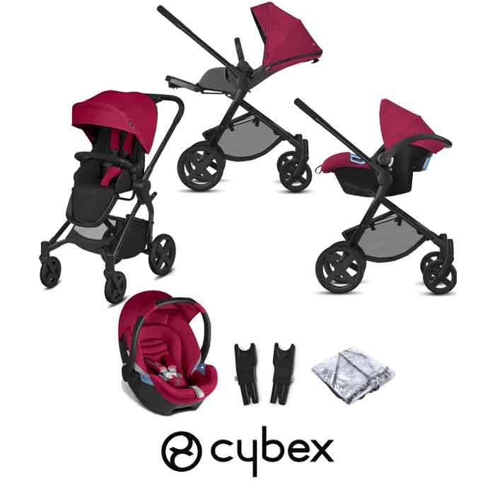 Cybex CBX Kody Aton Travel System Crunchy Red
