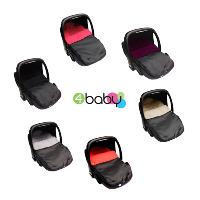 4baby Shower-Proof Fleece Car Seat Footmuff - circular