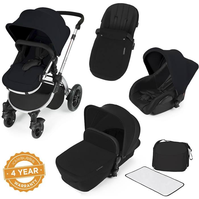 ickle bubba Stomp V2 Black All-in-One Travel System (Black)
