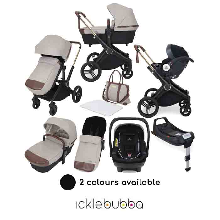 Ickle Bubba Aston Rose Mercury 10 Piece Travel System Bundle with ISOFIX Base