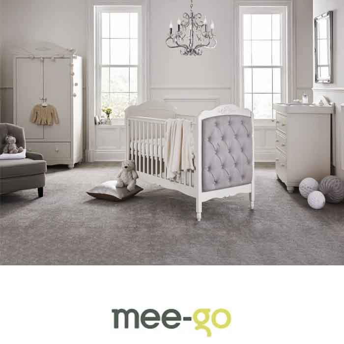 Mee-Go Epernay Cot Bed 5 Piece Nursery Furniture Set With Deluxe 4inch Foam Mattress