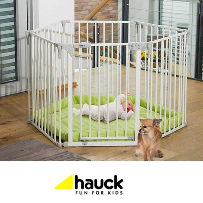 Hauck Baby Park Stair Safety Gate / Playpen - White