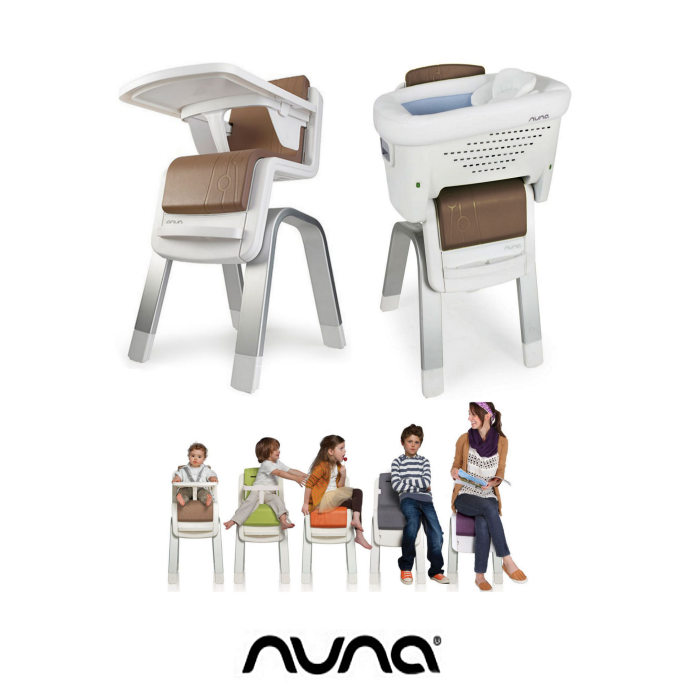 Nuna Zaaz 3 in 1 Highchair Lowchair  Side Crib