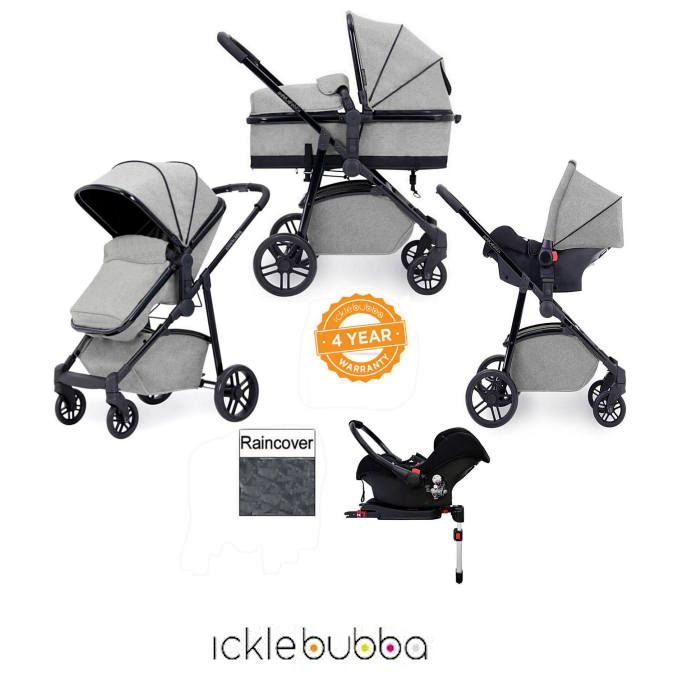 Ickle Bubba Moon 3 in 1 Travel System & Isofix Base