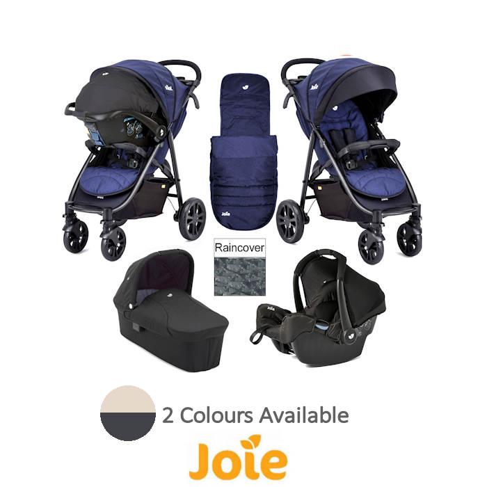 Joie Litetrax 4 Wheel Carrycot Gemm Travel System