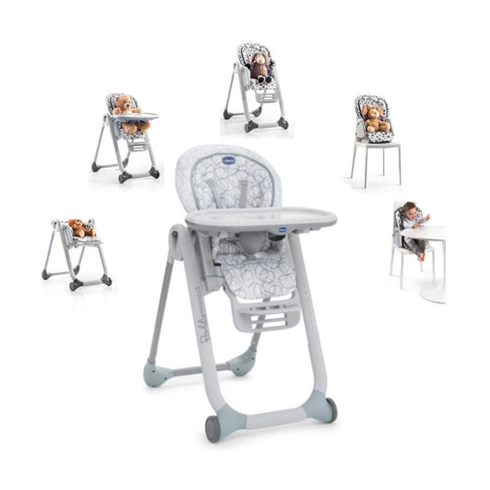 Chicco Luxury Polly Progres5 3 in 1 Highchair - Sage