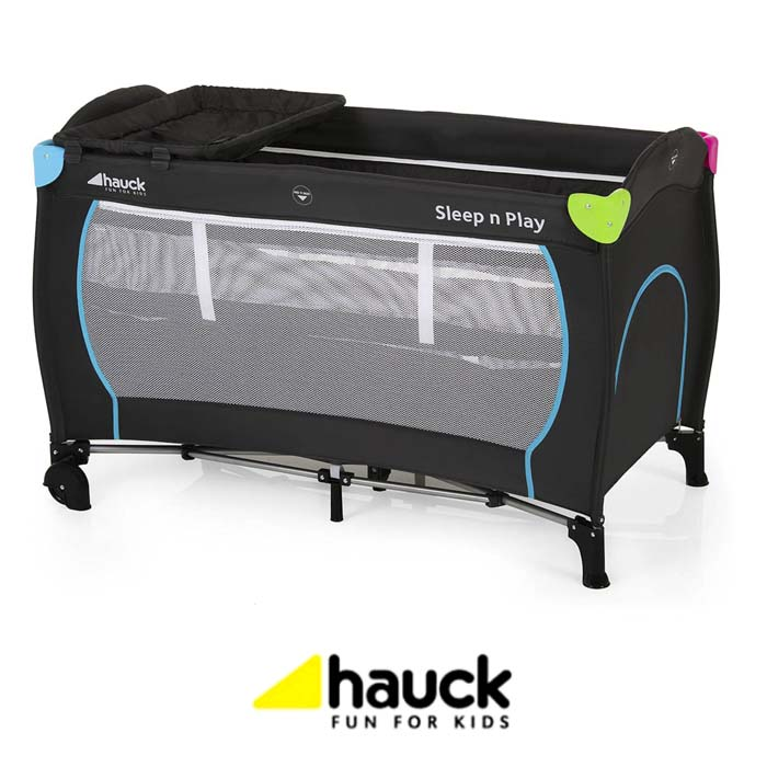 Hauck Sleep n Play Center Travel Cot Playpen - Multicolour Black