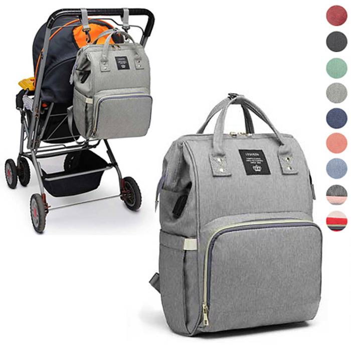 Baby Changing Backpack With Built-in USB Charger - 9 Colours