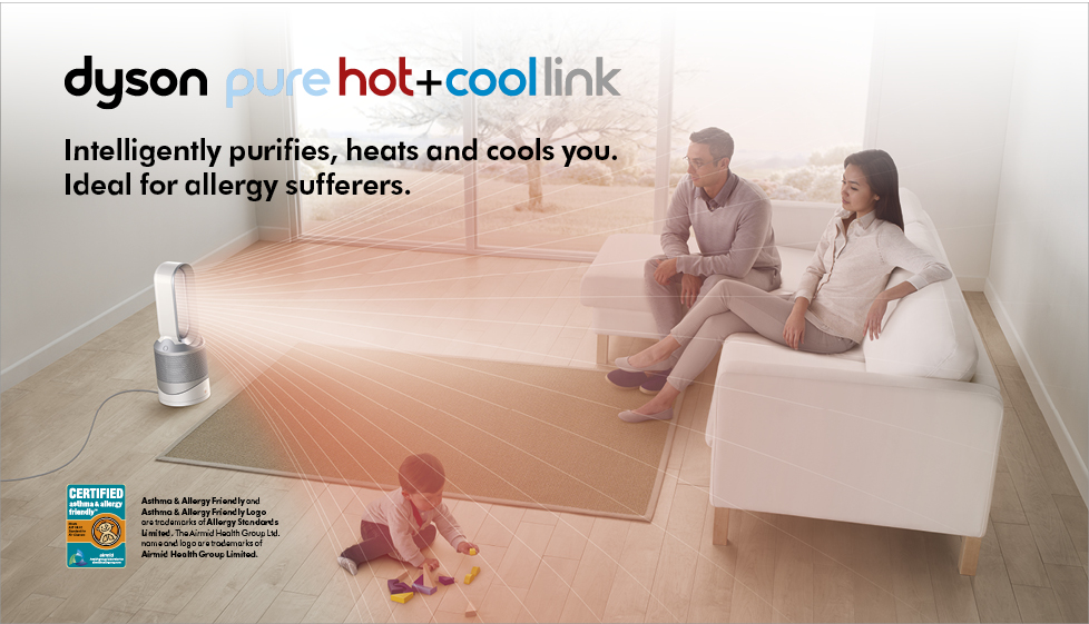 Intelligently purifies, heats and cools you. Ideal for allergy sufferers