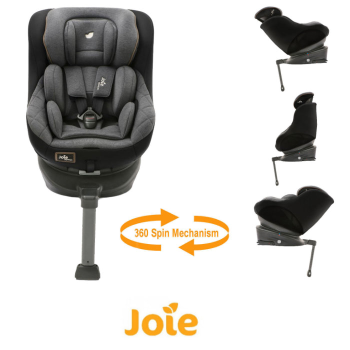 Joie Limited Edition Spin 360 Group 0+/1 Isofix Car Seat - Signature Noir