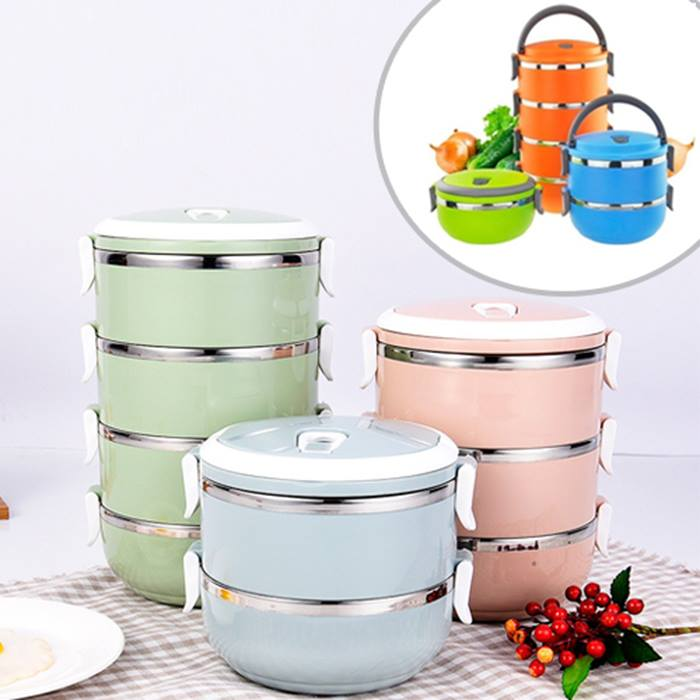 1, 2, 3 or 4-Layer Portable Insulated Food Container - 6 Colours