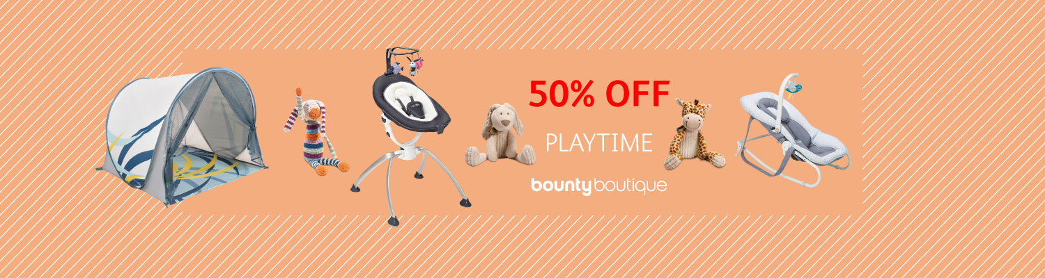 50% off baby playtime