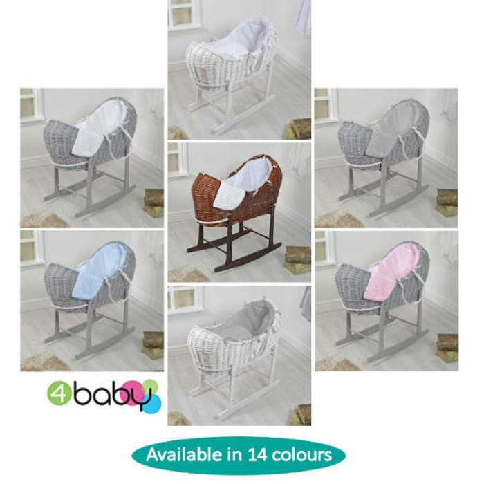 4baby Wicker Snooze Pod  Rocking Stand  Dimple