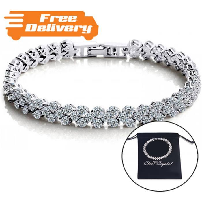 7ct Created Sapphire Tennis Bracelet