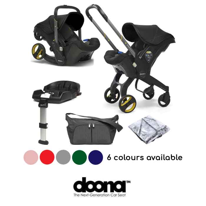 Doona Infant Car Seat Stroller With ISOFIX Base Free Raincover Changing Bag