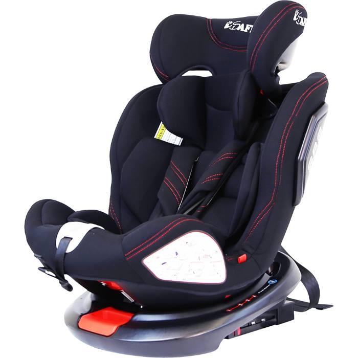 iSafe All Stages 360° Rotating Baby Car Seat Group 0+ 1 2 3 (Black)
