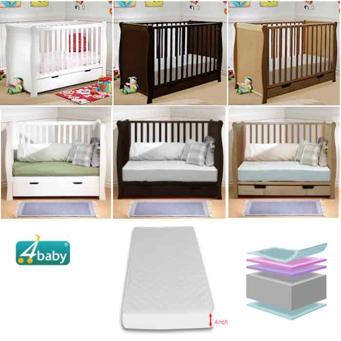 4baby-sleigh-cot-with-drawer-mattress