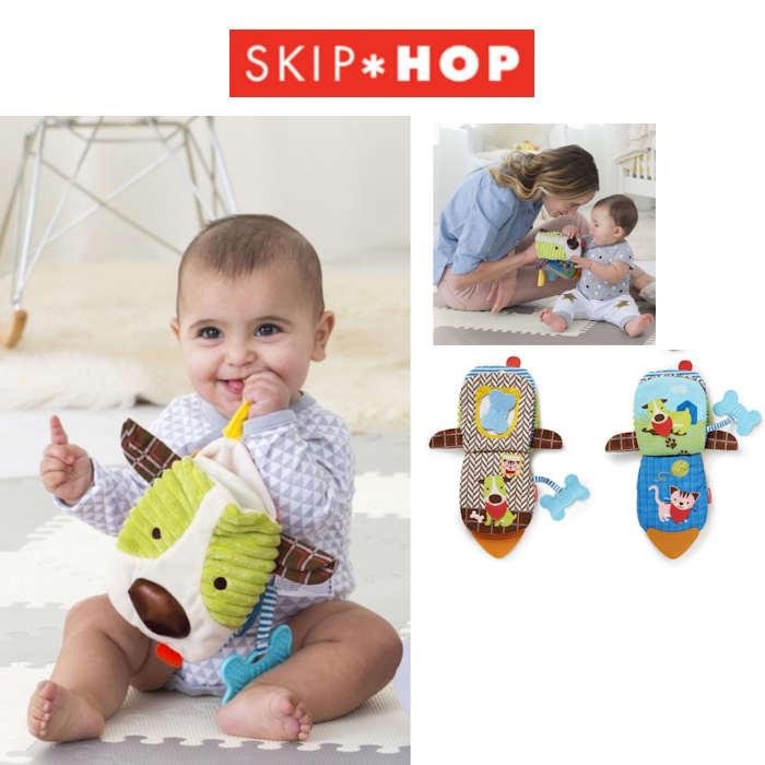 Skip Hop Bandana Buddies 3 in 1 Baby Activity Toy  Puppet Book - Puppy