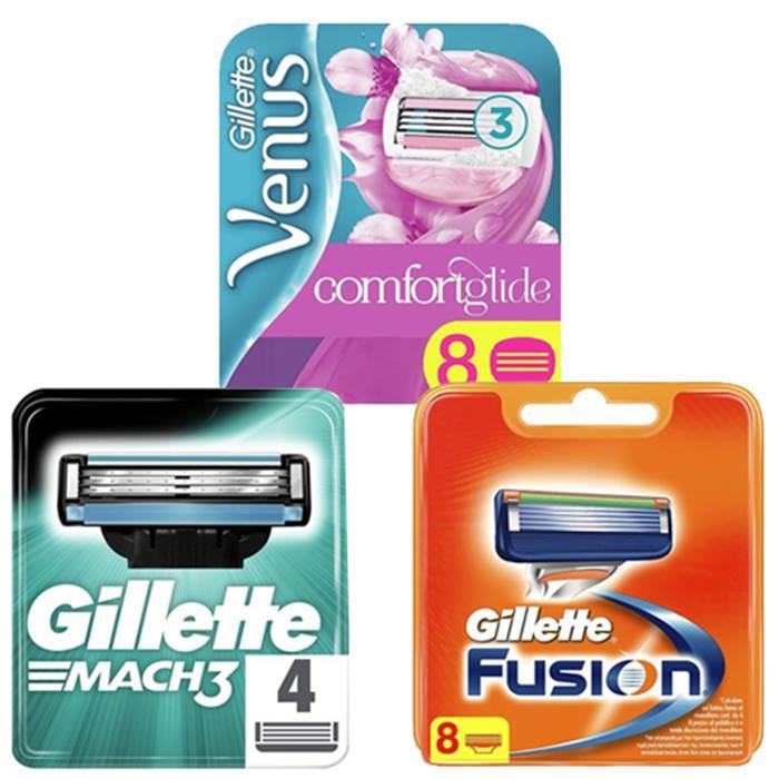 Gillette Blades - Fusion, Mach3 & Venus - 4, 8 or 16 Pack