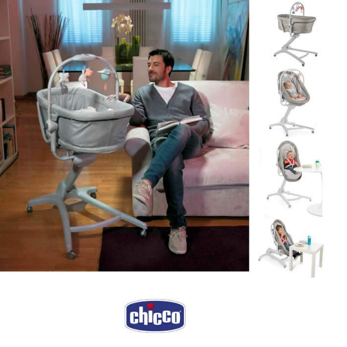 Chicco 4in1 Baby Hug Crib Seat - Legend