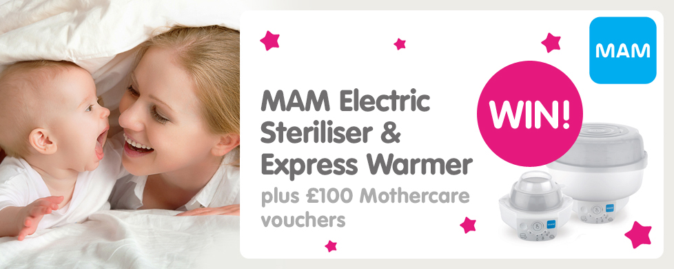 MAM Electric Steriliser & Express Warmer plus £100 Mothercare vouchers