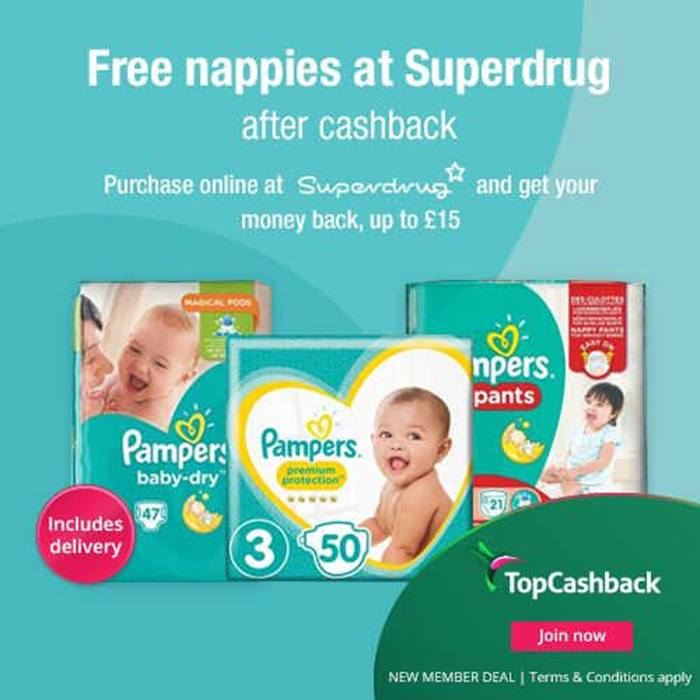 Superdrug free nappies