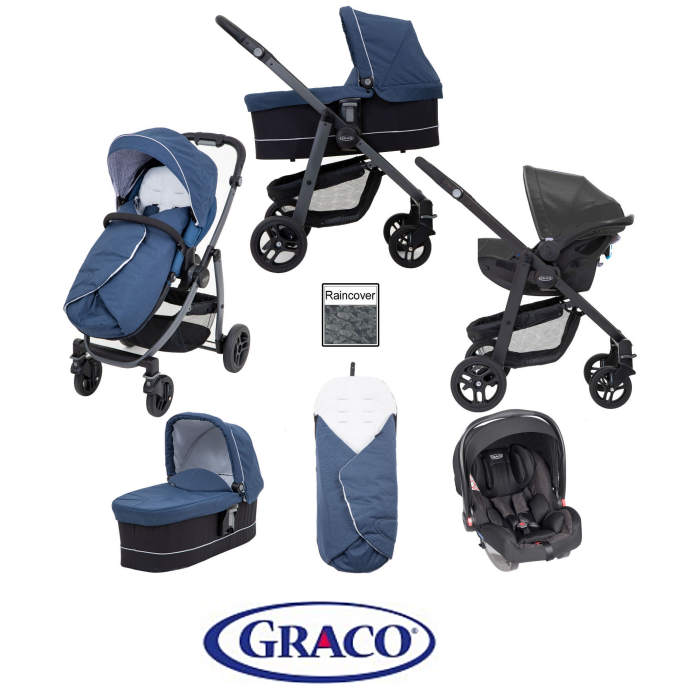 Graco Evo Avant Snug Essentials iSize Travel System Ink