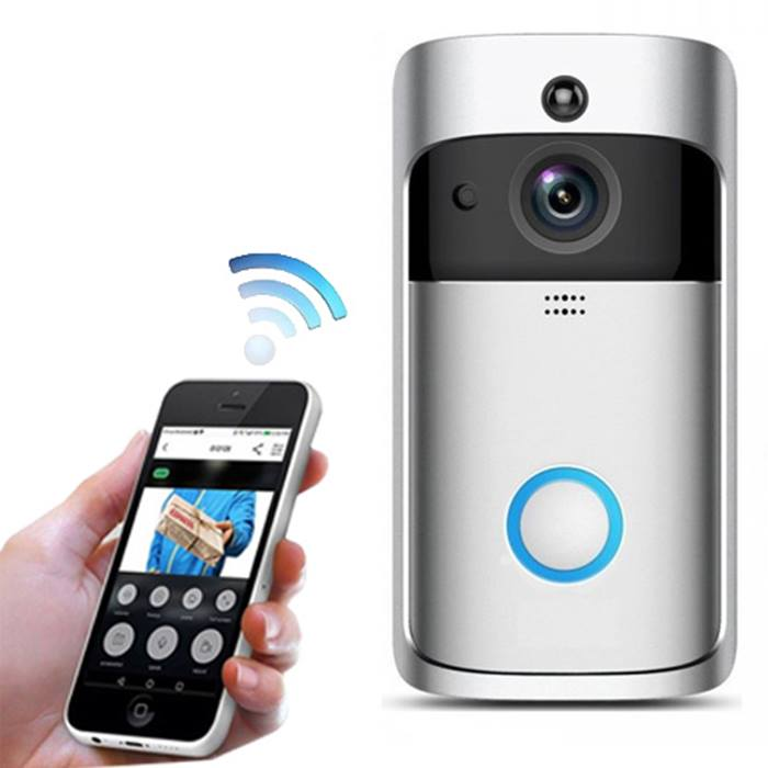 3-in-1 Smartphone-Connected Video Doorbell With Intercom - 2 Colours & Optional SD Card