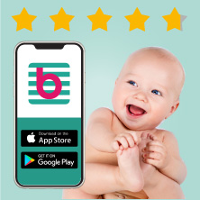Download our top rated pregnancy and baby app