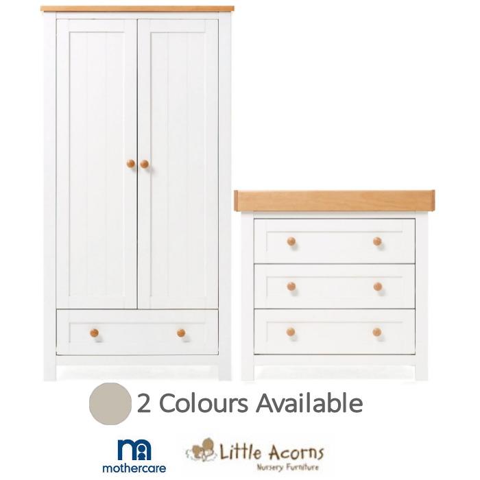 Little Acorns Mothercare Lulworth 2pc Nursery Furniture Set