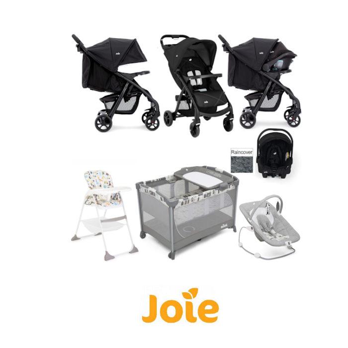 Joie Muze Everything You Need Juva Travel System Bundle - Black