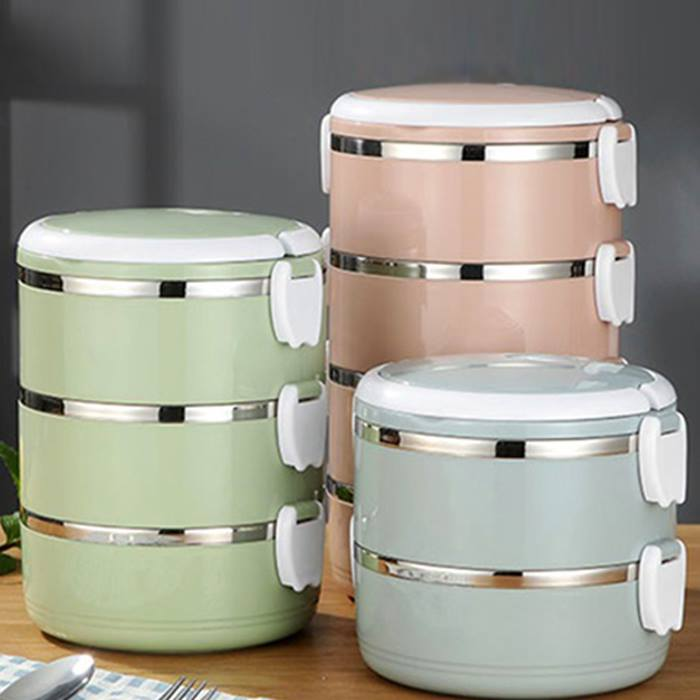 Multi-Layer Insulated Stainless Steel Lunch Box - 3 Colours