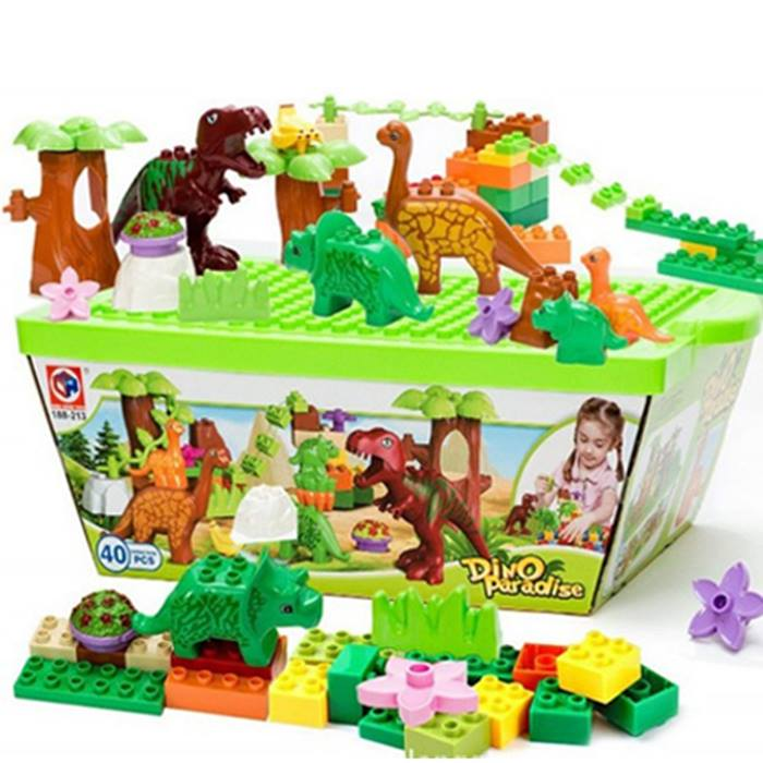 Dinosaur Assembling Building Blocks Set - 40 Pieces