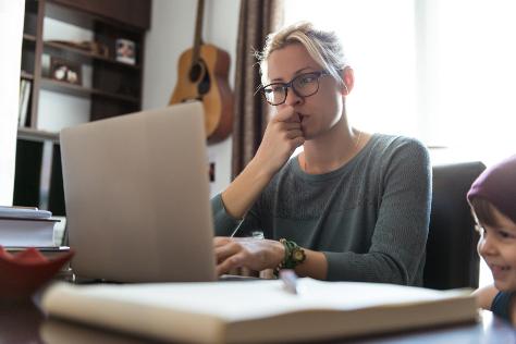 Mum at computer