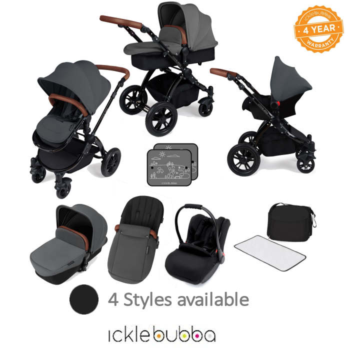 Ickle bubba Stomp V3 Black All In One Travel System