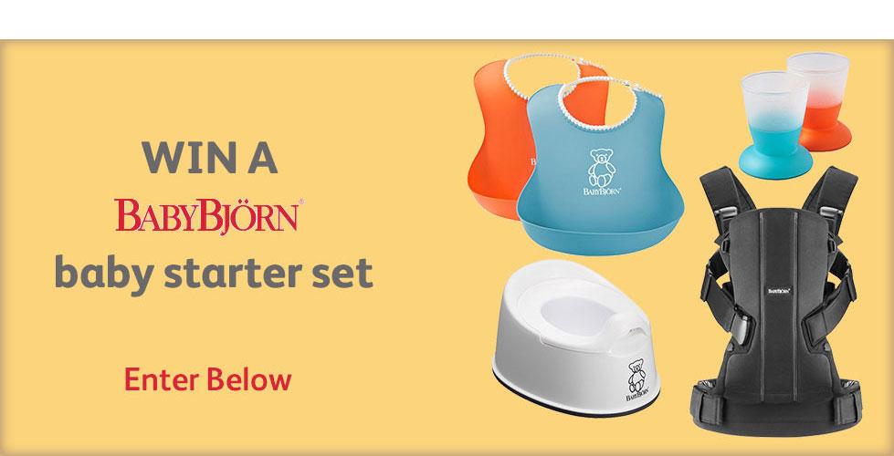Win a BabyBjorn baby starter set