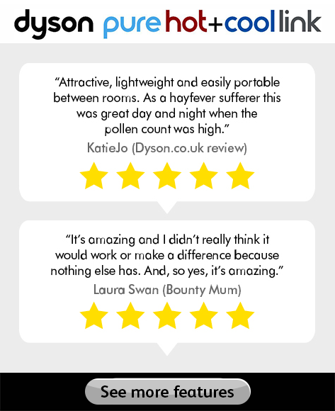 Dyson purifier reviews - see more features