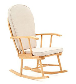 Mothercare Natural Rocking Chair with Beige Cushion
