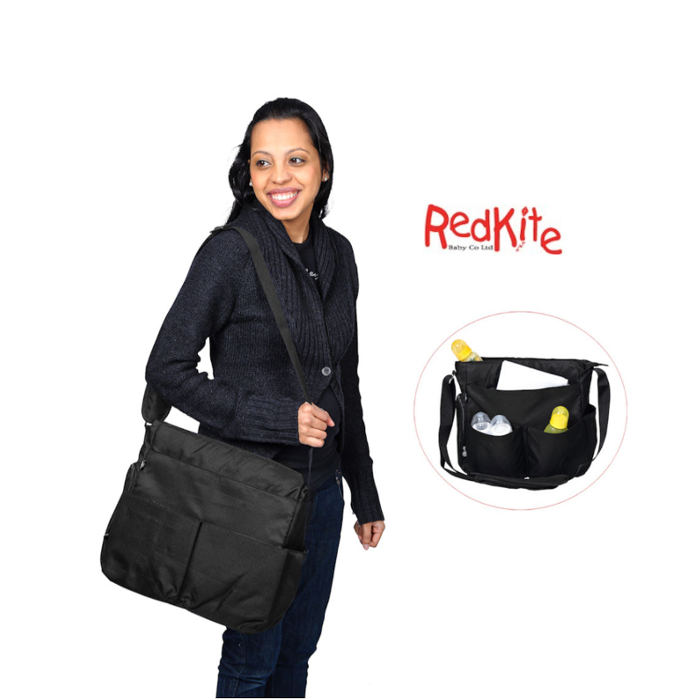 Red Kite Messenger Bag - black