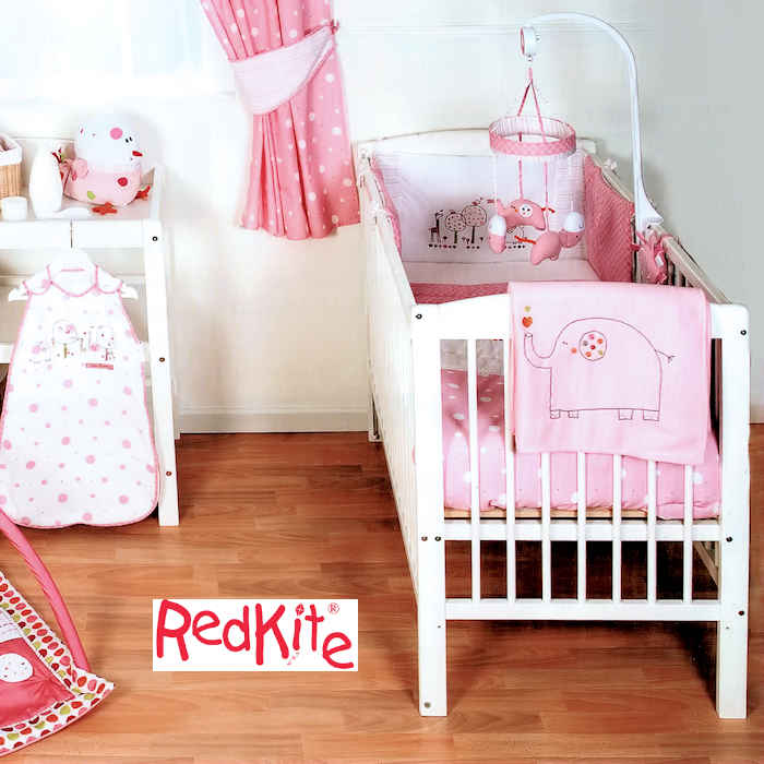 Red Kite Hello Ernest 4 Piece Cosi Cot - Cot Bed Bedding Set - Pink