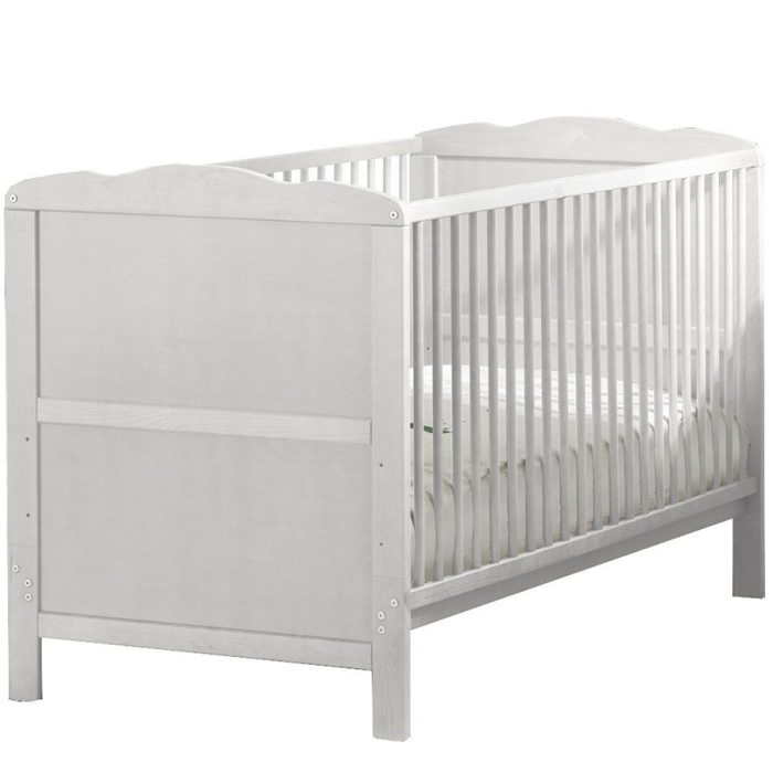kiddies-kingdom-cot-bedtoddler-bed-140-x-70cm-white-including-foam-mattress-worth-40